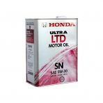 Моторное масло HONDA Ultra LTD Motor Oil 5W-30 SN (4л)