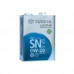 Моторное масло TOYOTA Motor Oil 0W-20 SN (4л)